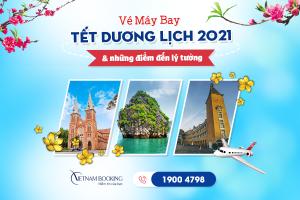 Vé máy bay giá rẻ Tết Dương Lịch 2021