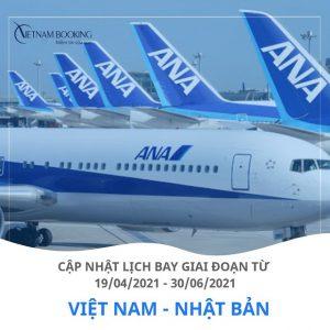 Lịch khởi hành các chuyến bay từ Việt Nam đi Narita Nhật tháng 04/2021